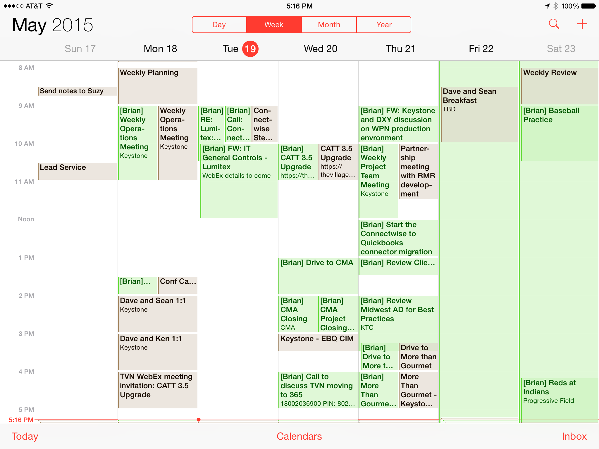 CalendarOne Shared Calendars Screenshot